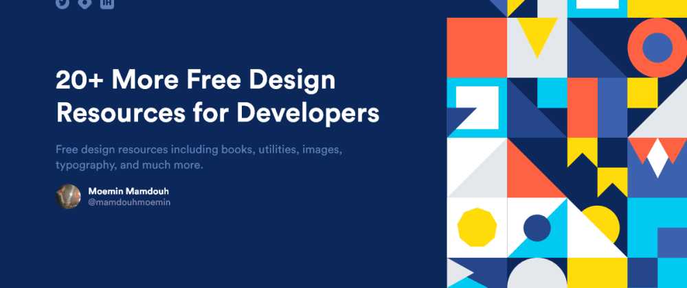 Cover Image for 20 More Free Design Resources for Developers