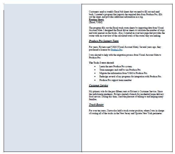 MJL resume page two