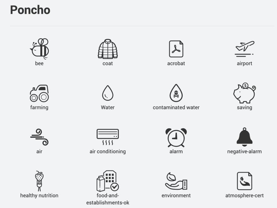 Poncho Icons