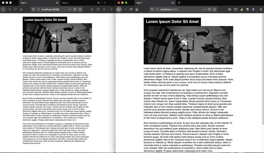 Example 1 on a side-by-side setting with odd resolutions