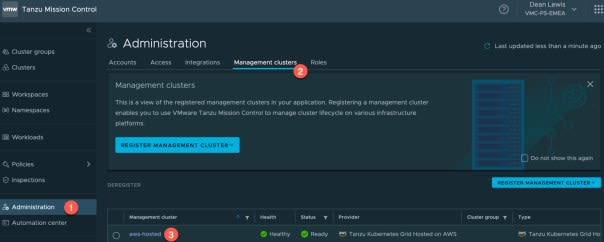 Tanzu Mission Control – Deploying TKG Clusters to AWS