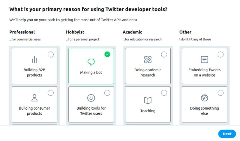 Making a twitter bot