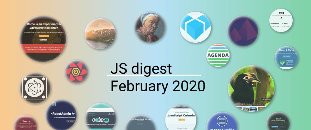 Cover image for 30 most popular JavaScript repositories on GitHub in February 2020