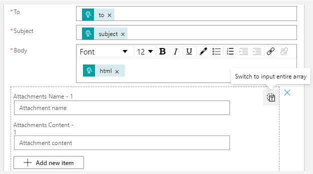 input array
