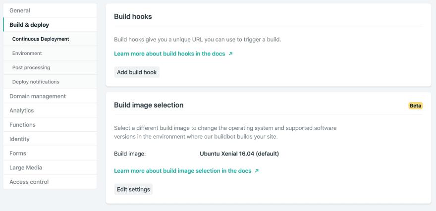 Netlify Build Hook