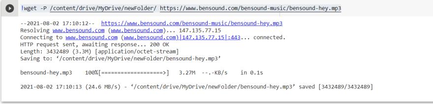 Remote upload in google drive