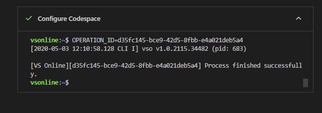 ConfigureCodespace