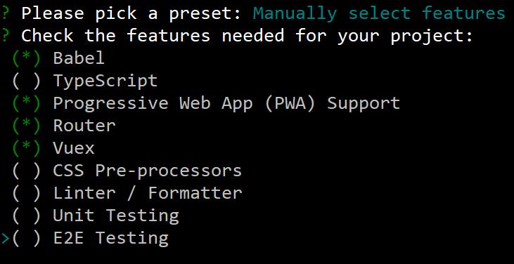 Vue-Cli3 install