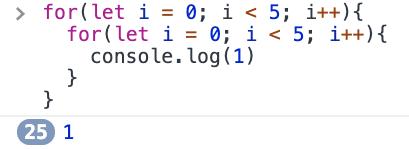 let 5x5 loop