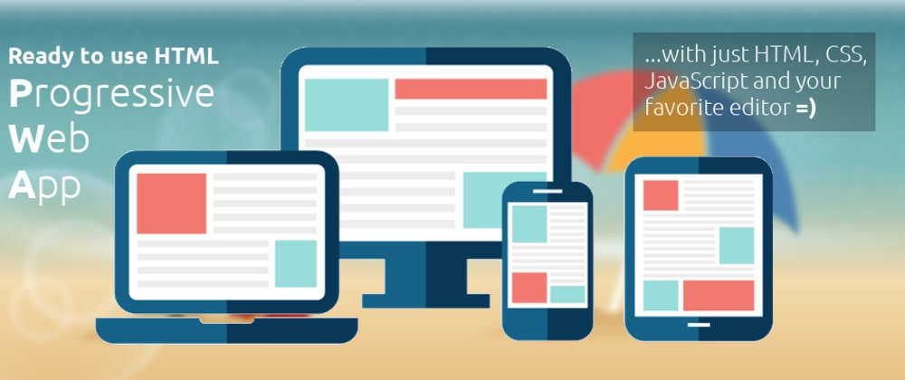 Cover image for Ready to use Progressive Web App template