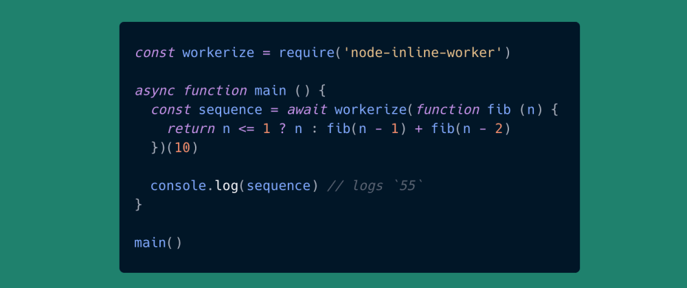Cover image for Seamless workers for Node.js