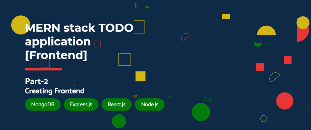 Cover image for MERN stack TODO application [Frontend]