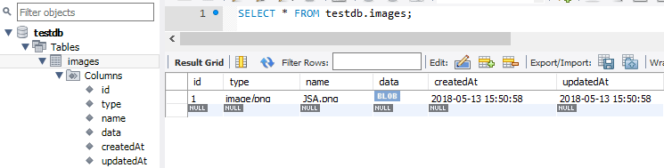 NodeJS-Express-Multer-Upload-MultipartFile-MySQL-Sequelize-saving-to-mysql table