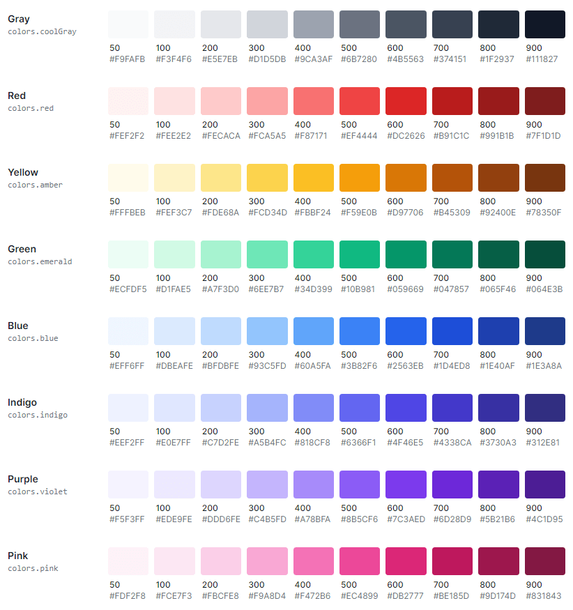 tailwind colors