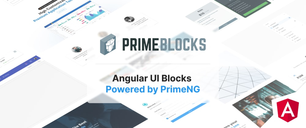 Cover image for Introducing PrimeBlocks For PrimeNG