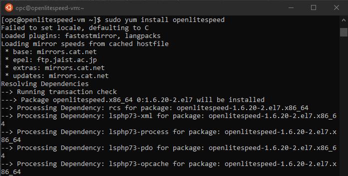 install openlitespeed