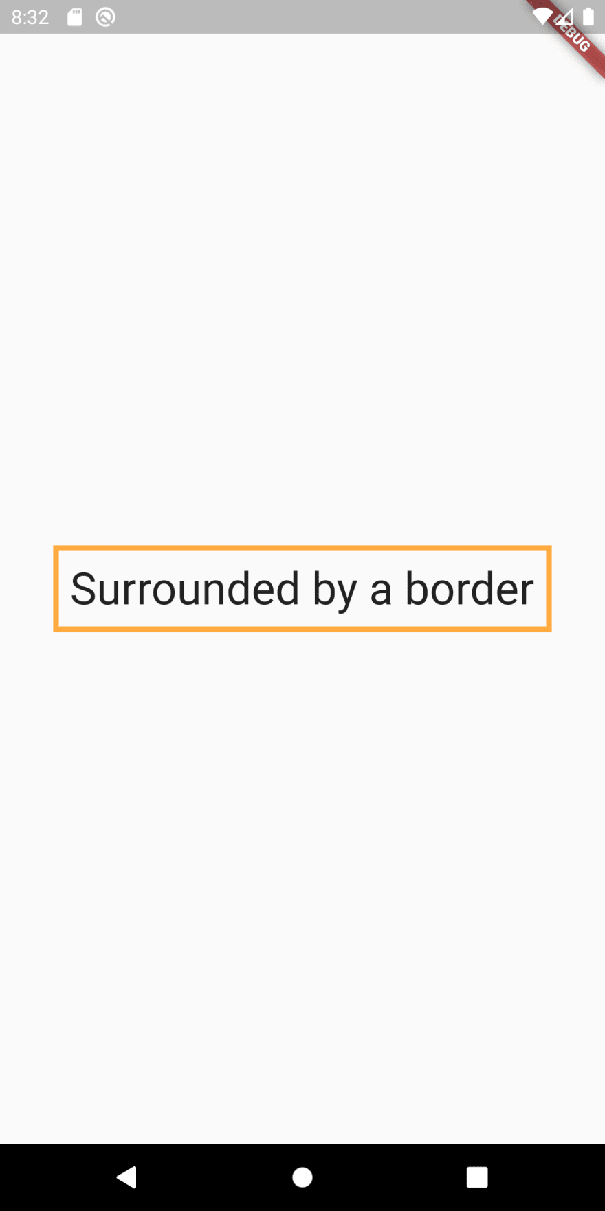 Simple text surrounded by border