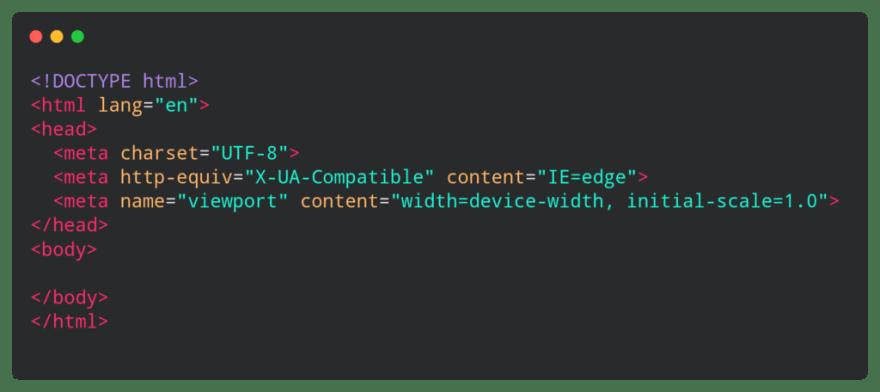 html boiler plate code