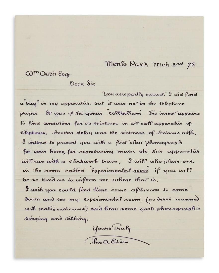 Edison Letter