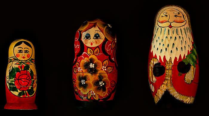 A small set of Matryoshka or Russian Stacking Dolls