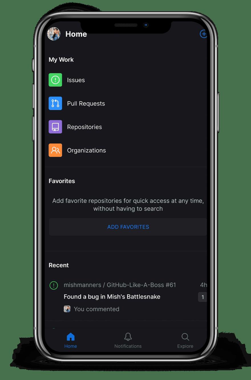 GitHub For Mobile Home