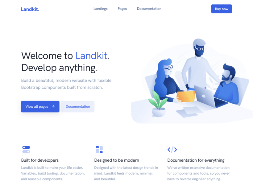 Landkit Bootstrap Template