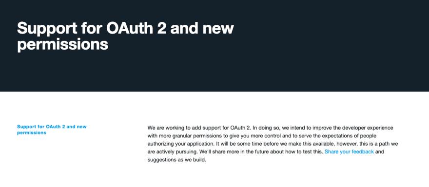 Twitter is still using OAuth 1.0a