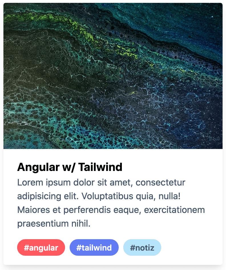 Angular Tailwind Card