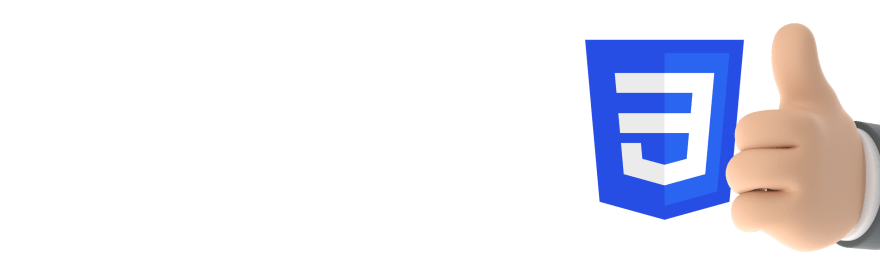 Blue CSS3 logo beside thumbs up