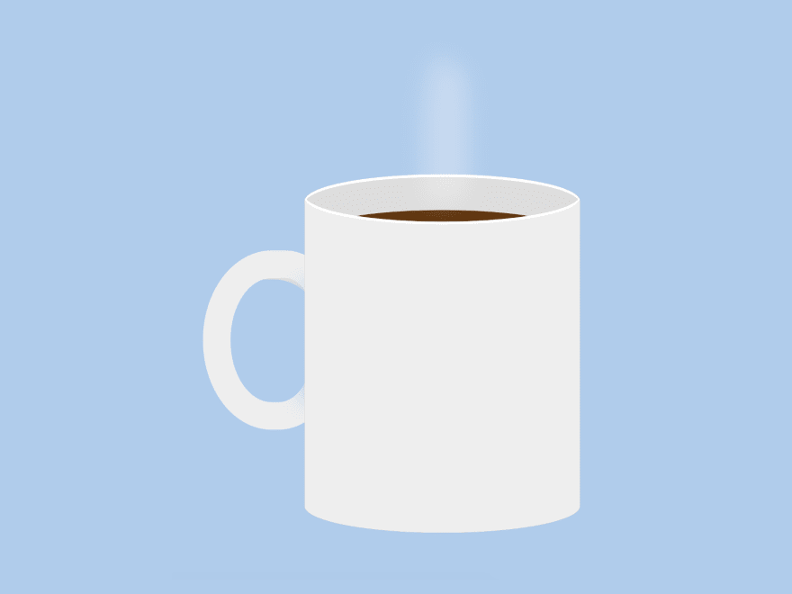 Cartoon of a blank coffee mug