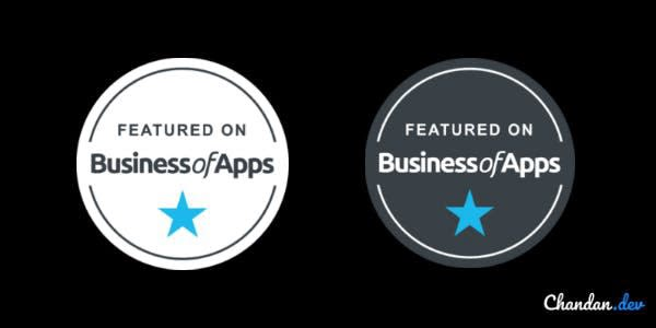 Business of apps trust badges