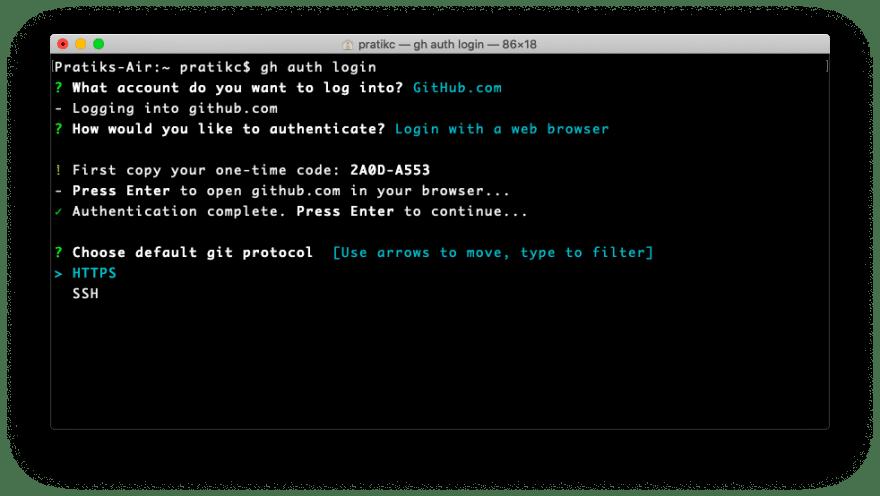 The 'Terminal' prompting user to select a communication protocol. Image Credit: Pratik Chaudhari.