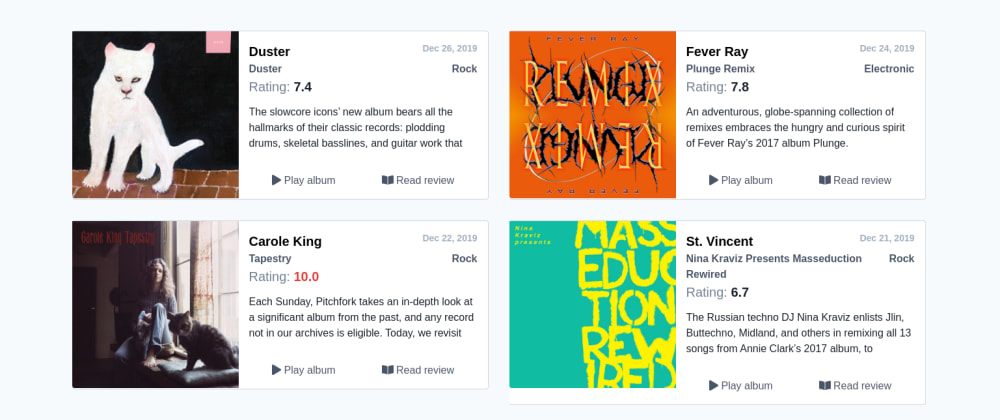 Cover image for What I learned creating 12inch.reviews, a mashup of Spotify and Pitchfork
