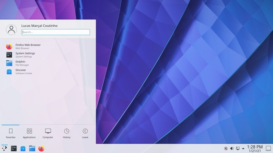 KDE Plasma - KDE Neon 20.04 (User Edition)
