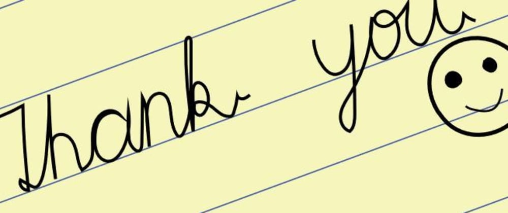Cover image for Thank you note