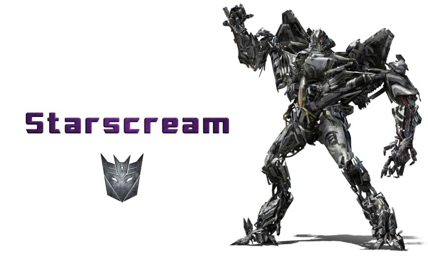 Image shows starscream github repo's banner image