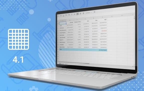 DHTMLX Spreadsheet