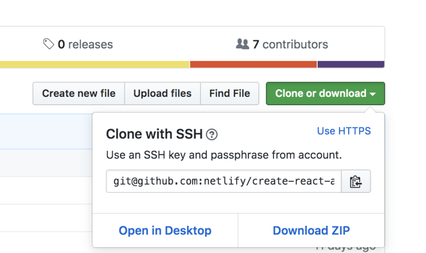 git clone screenshot