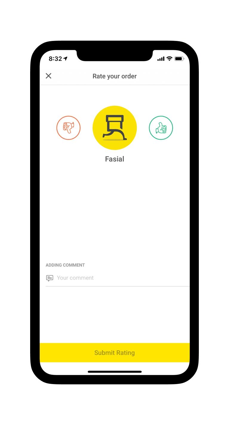 Pop-up in app
