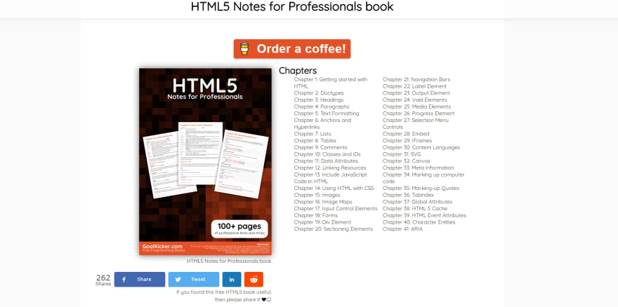 HTML5 Notes for Professionals book