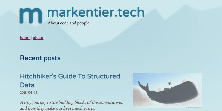 markentier.tech in old design