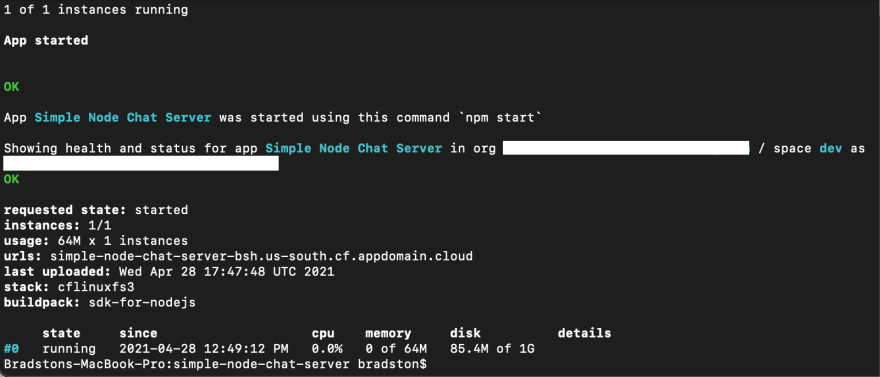 CLI-chat-server-succesful-deploy