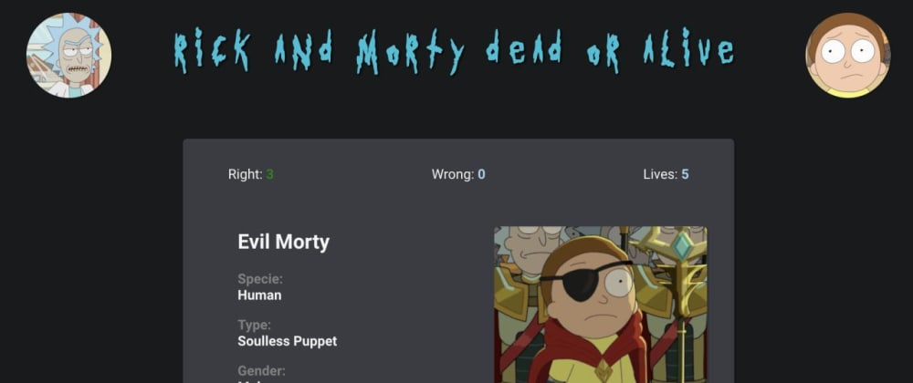 Cover image for Rick and Morty Dead or Alive