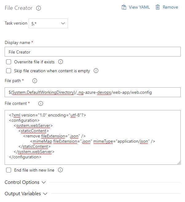 File creator task