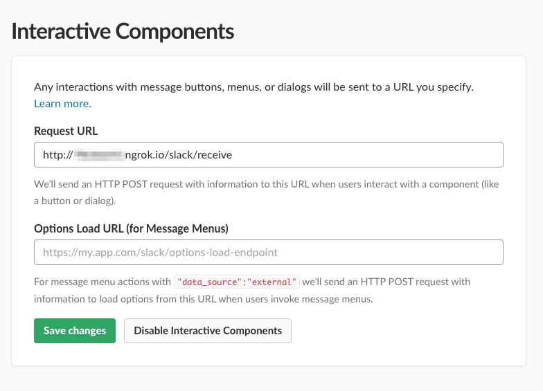 Slack App Interactive Components