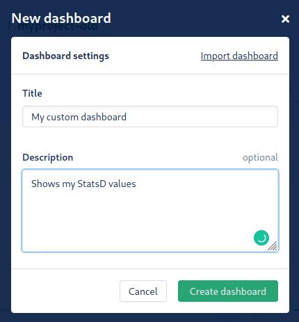 Creating a dashboard