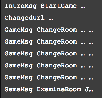 StartGame, ChangedUrl, ChangeRoom