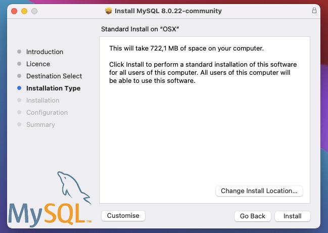 MySQL install location