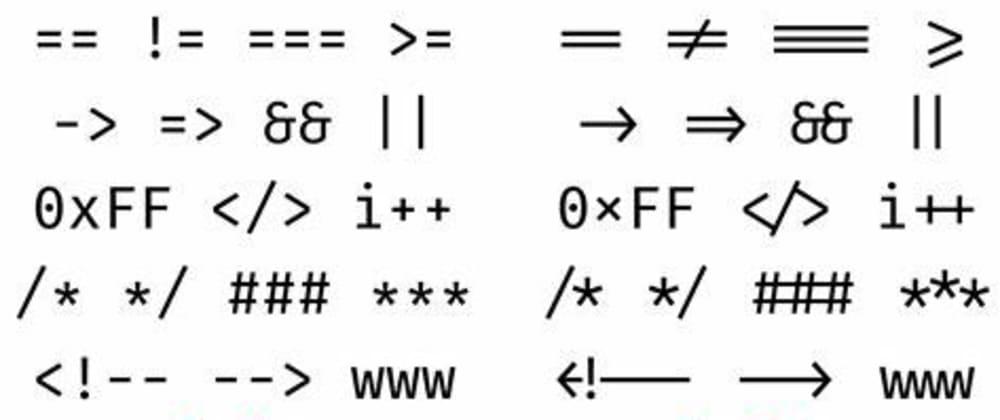 Cover image for Font ligatures in Vscode