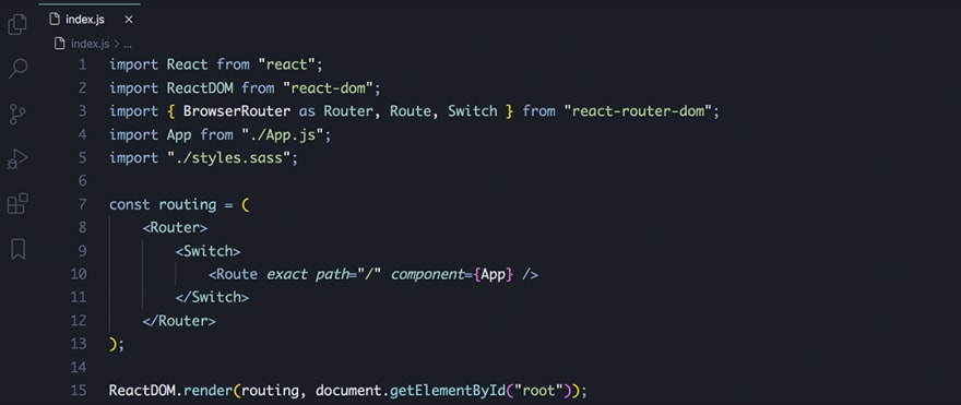 React code snippet with the August - Nord (Darker)theme